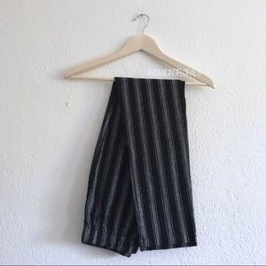 Brandy Melville Tatiana black grey stripe pants